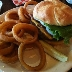Angus Burger with Onion Rings